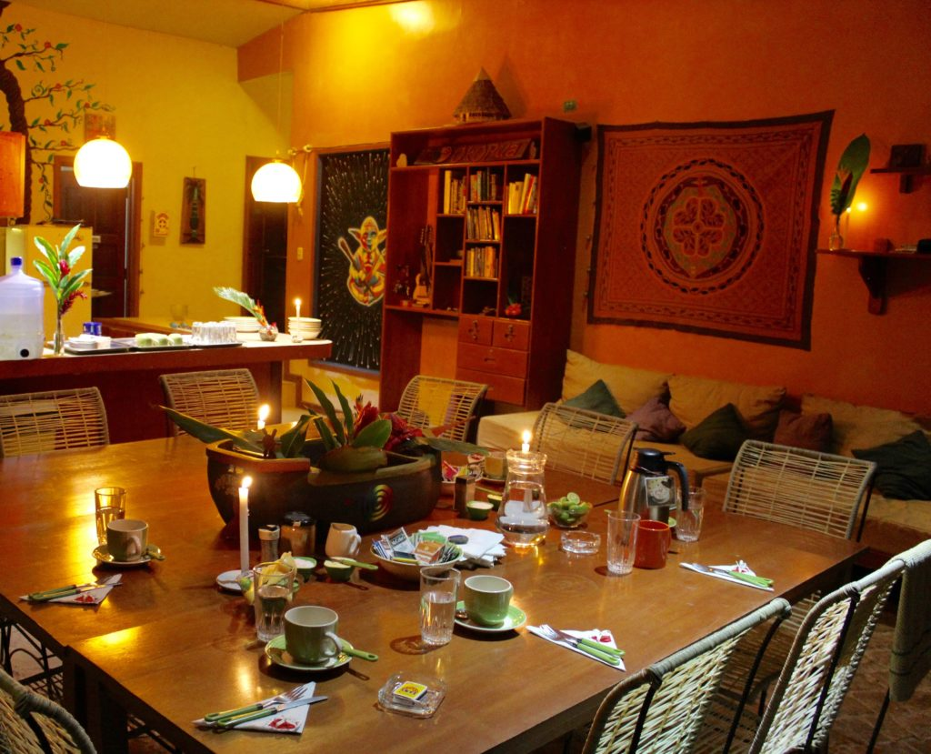 Dining in Okopua during Ayahuasca workshops and retreats